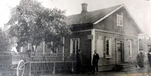 Ruuti- ja dynamiittikauppa Winberg, joka sijaitsi Heimolinnankadulla.
