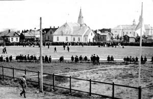 Loimaan Kauppalan uuden urheilukentän vihkiäiskilpailut 1.6.1930.