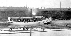 Veneilyä Loimijoella 1920-luvulla.