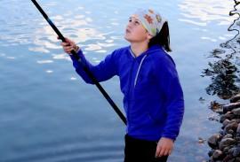Jenni Veijalainen narrasi kaloja parhaiten. Kuva: Maija Paloposki