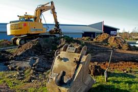 Täsmäputissa tehtiin maanrakennustöitä viime viikolla. Kuva: Sampsa Hakala