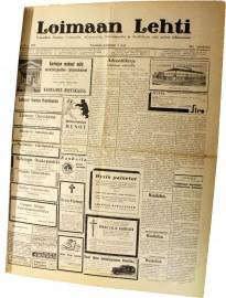 Loimaan Lehti 7.12.1939, sivu 1