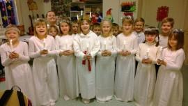 Lucian päivää vietettiin jo tänään Kojonkulman koulussa.