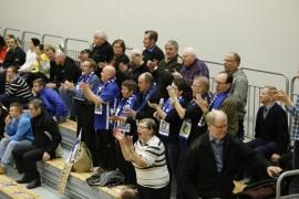 Loimaalle saapunut Sammon faniryhmä iloitsi voitosta. Kuva: Juuso Riponiemi