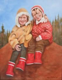 Päivi Räihä palaa lapsuuden kaveruusmuistoihin kahden Päivin muotokuvassa.