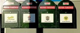 Citymarketin eteisaulasta löytyy neljä hyvää sijoituskohdetta pullonpalautuskuiteille. Kuva: Sampsa Hakala