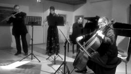 Ilari Lehtinen, Ilana Gothóni, Marko Autio ja Katja Kolehmainen ilahduttivat yleisöä taitavalla soitollaan Loimaan Taidetalossa.