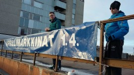 Marko Paakkunainen ja J-P virittelivät markkinoiden markkinointia.