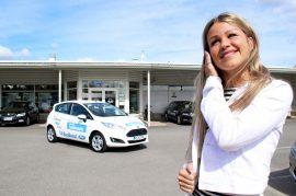 Pauliina Vainio sai käyttöönsä uuden Ford Fiestan. Kuva: Lari Kiviranta.