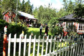 Kaarina ja Väinö Tanhuanpää luonnehtivat kesäpaikkaansa paratiisiksi, jossa on hyvä olla yhdessä. Kuva: Anu Salo