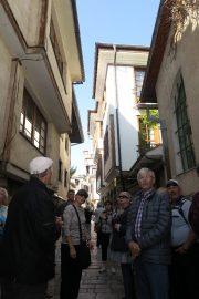 Ohridin vanhan kaupungin kujalla.
