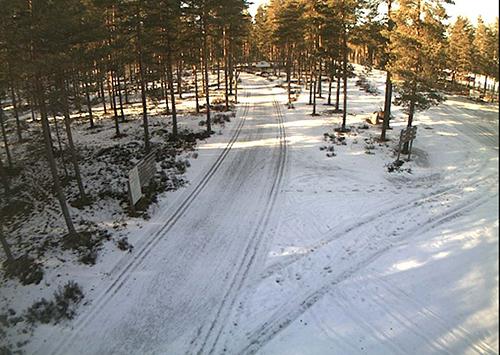 Kuvakaappaus Harjureitin webbikameran kuvasta. Webbikamera löytyy osoitteesta http://webcam.loimaa.fi/harjureitti/webcam2.jpg.