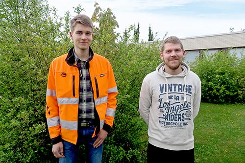 Antero Sosi ja Väinö Suominen valmistuvat tänä keväänä talonrakentajaksi ja levyseppähitsaajaksi, ja molempien mukaan tulevaisuuden työtilanne näyttää valoisalta.