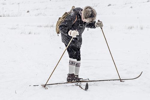 Kuva Loimaan perinnehiihtotapahtumasta viime talvelta.