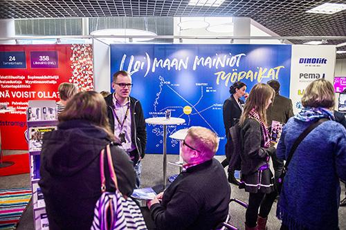 Loimaan seudun yritykset ja kaupunki olivat näyttävästi esillä Rekryexpossa. Kuva: Lennart Holmberg, Turun Sanomat.